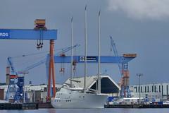 P2080257 (Lumixfan68) Tags: yards ships german naval hafen kiel schiffe schiffbau segelyacht luxusyacht werften