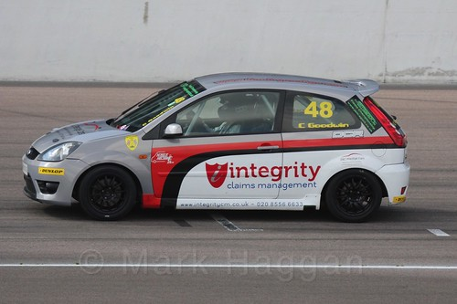 Callum Goodwin in Fiesta Racing at Rockingham, Sept 2015