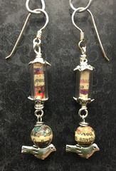 bird house (button*up) Tags: birds silver handmade text earrings collge bookpages