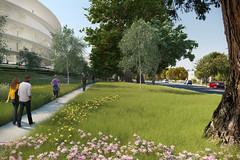 Проект нового кампуса Apple от HOK