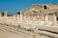 Street Columns (hecticskeptic) Tags: turkey ephesus libraryofcelsus templeofhadrian bouleuterion nymphaeumtraiani markamorgan
