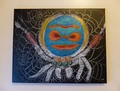 Portrait of a Peacock (tessab101) Tags: art painting spider jumping arachnid peacock salticid salticidae speciosus maratus