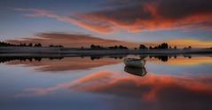 Sunset Reflections on Loch Rusky (Giovanni Giannandrea) Tags: sunset trossachs refelctions fieryclouds scottishlandscape lochrusky