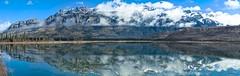 Talbot Lake Reflection (H.B. Mejia) Tags: lake canada mountains reflection beautiful spectacular landscape rockies nationalpark jasper gorgeous alberta stunning rockymountains mountainlake mountainpark glassysmoothreflection