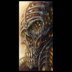 Digital painting...inspired by Beksinski, Gric and Giger...future painting project #pooch #art @wacomtattooteam @biomech_collective #beksinski #petergric #hrgiger