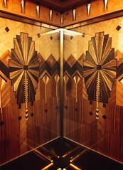 Lift/Elevator interor, Marine Building, Vancouver (Mach V) Tags: architecture vancouver lift elevator artdeco marquetry marinebuilding