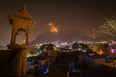 Diwali in Jodhpur (ncs1984) Tags: city india color colour skyline night fireworks firework diwali rajasthan jodhpur divali
