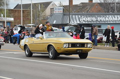 2015 Christmas Parade (Adventurer Dustin Holmes) Tags: old classic cars ford car yellow antique parades convertible parade vehicles missouri vehicle fordmustang musclecars musclecar sportscar sportscars christmasparade 2015 lebanonmo xmasparade lebanonmissouri lacledecounty lilywoolsey adrianpalmer