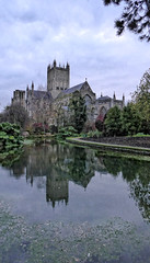 Wells Cathedral (fujibera) Tags: water reflections cathedral wells infocus highquality