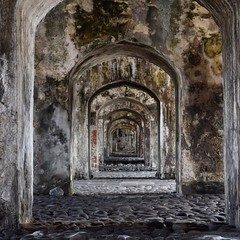 Day 211. A shot of the walkways at the fortress San Juan de Ulúa. Trying to decide whether to start walking again today...I really want to but it's raining intermittently and I know how much spending a day in the rain can suck. #theworldwalk #travel #mexi
