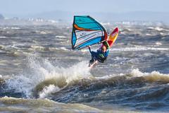PC311297-Edit (Brian Wadie Photographer) Tags: gulls oystercatcher windsurfing kiting em1 goodlight 14xtc avonbeach canon70300lis hemgistburyhead