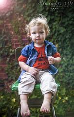 adorbs (taylormackenzie) Tags: baby toddler little boy curl hair blue eyes outside ivy dof denim feet tiny lens flare sunlight green cheeks kid kids child children son