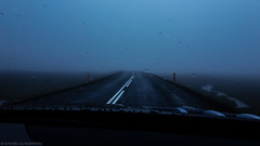 Sometimes it's just like this (katrin glaesmann) Tags: iceland unterwegsmiticelandtours photographyholidaywithicelandtours rentedcar road fog rain clouds wet mobilephonecapture