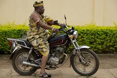 Ewe Chief on Motor Bike (peace-on-earth.org) Tags: regionplateaux tgo togo geo:lat=694389667 geo:lon=117172667 geotagged nots ewe peaceonearthorg