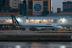 EI-RNC - Embraer EMB-190-100 [19000503] - Alitalia - London City - 26 August 2016 (Leezpics) Tags: londoncityairport lcy regionalairliners embraer 26august2016 airliners alitalia eirnc commercialaircraft