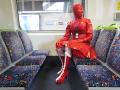 1062 (MissCassandra) Tags: red latex amcexpo2016 metrotrains northmelbourne