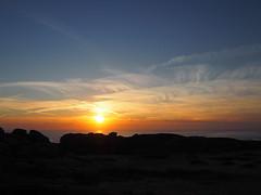 Feathery sky (marina_felix) Tags: 366 sky sundown afternoon clouds feathr orange yellow sillouette rock