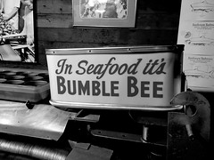 It's Bumble Bee (blackthorne56) Tags: sea food its bumble bee brand astoria oregon store sign