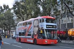 Arriva London North LT467  in overall advert for Rimmel (SW11simon) Tags: ltz1467 lt467 arriva arrivalondon arrivalondonnorth wrightbus newroutemaster advertising alloveradvertisingbus rimmel bus publictransport londonbus londontransport londonbuses transport tfl transportforlondon