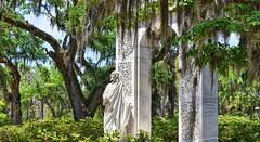 White Archway (ott.geoffrey) Tags: bonaventure cemetery savannah georgia white marble arch archway jesus christ spanishmoss savanah usa america graveyard monument