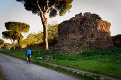 (massimopisani1972) Tags: appia antica via viaappiaantica appiaantica roma rome italia italy massimopisani massimo pisani ciclista bikers bike bicicletta nikon d610 20300
