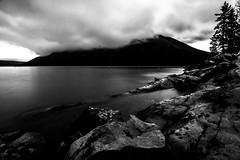 Shoreline (christianstapor) Tags: blackandwhite bw monochrome lakeminnewanka banffnationalpark banff canada alberta fujifilmxt10 xt10 landscape mirrorless