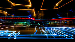 Zoom Corners (Oscar 'Peque' Alonso) Tags: street night light long exposure longexposure color lightroom photoshop paint painting art sony alpha a33 city urban cars trafic car