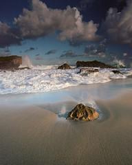Judgement Day (Eddie La Mole) Tags: beach waves film mediumformat pentax6x7 kodakektar c41