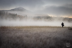 Salt (Del.Higgins) Tags: lone photographer connery pond sunrise cold adirondacks mountains shallow depth field fog moody mood water outdoor olympus omd em1 lake placid wilmington new york