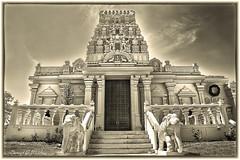 Hindu Temple - Omaha (danielgweidner) Tags: architecture bw blackwhite eos5d hindu niksilver nebraska omaha topaz