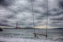 (katiegodowski_photography) Tags: swings bridges weather clouds outside outdoor amateurs amateur canon photography beaches california marin creative colors