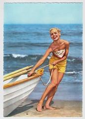 Bye Bye Birdie (Truus, Bob & Jan too!) Tags: pinup girl woman sweet sexy beachwear swimwear bathingsuit maillot vintage postcard carte postale cartolina postkarte tarjet postal postkaart briefkarte briefkaart ansichtkarte ansichtkaart voat beach sea d3