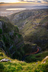 Cheddar Gorge (peterchilds93) Tags: long exposure cheddar gorge somerset southwest countryside road lights sunset cliffs rocks sony alpha a6000 grass lake winding