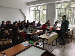 "Lectures delivering on December 5th 2016 on Al Farabi Kazakh National University, Almaty (6) <a style=""margin-left:10px; font-size:0.8em;"" href=""https://www.flickr.com/photos/89847229@N08/30631674113/"" target=""_blank"">@flickr</a>"
