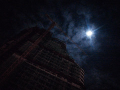 Lunatic (bdrc) Tags: supermoon moon lunar construction site building tower cloud night sky asdgraphy klang selangor malaysia handphone smartphone phone mobile noise