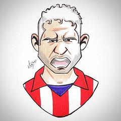 Diego Costa (dejanferreira) Tags: art arte atleti atleticomadrid aupaatleti draw drawing diegocosta desenho dibujo futbol futebol