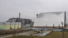 GOV42838 (avgusew) Tags: chernobyl disaster plant nuclear object power arch shelter reactor sarcophagus energy landscape view building construction air photo over station safe explosion aerial infrastructure fourth ukrainian atomic catastrophe tragedy pant confinement anniversary april ukraine kiev 2016 radiation radioactive