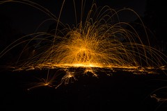 Steel wool fun (nicperichon) Tags: steel wool fire light streams melbourne
