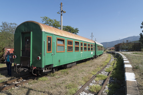 Train at the Kostandovo narrow gauge railway station, 16.09.2015.