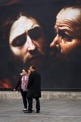 A Baroque Moment (stevedexteruk) Tags: caravaggio baroque trafalgar square london uk 2016 national gallery painting art couple man woman smoking cigarette