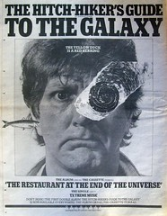 Newspaper add for the records (John Chanaud) Tags: thehitchhikersguidetothegalaxy