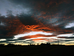 Short Lived Fire Sunset (northern_nights) Tags: cffaa 100v10f sunset firesky skyfire redskies clouds cheyenne wyoming silhouette