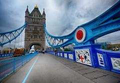 Tower Bridge in London (` Toshio ') Tags: toshio london unitedkingdom england europe european bridge towerbridge structure street english british greatbritain fujixe2 xe2 cars thames river history clouds