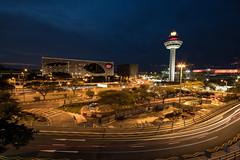 Continuous Movement | Changi Airport, Singapore (Aloysius Lam) Tags: singapore light longexposure airport architecture street urban city bluehour blue colors lighttrails travel