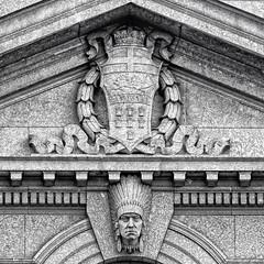 Alberta Coat of Arms (Mister Day) Tags: alberta coatofarms symbols stone wheat aboriginal canadian canada historical craftsmanship