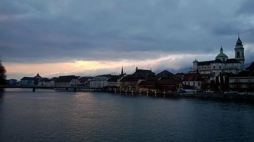 sunset over Solothurn.