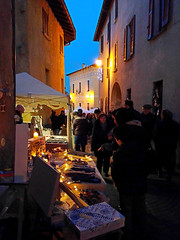 in search of ... (anbri22) Tags: anbri christmas galliatelombardo home italy christmasmarket alley people evening blue light