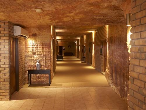 Underground motel, foyer