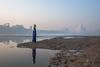 MYI_6388 (yaman ibrahim) Tags: india agra nikon d3 tajmahal yamuna morning water saree mis misty