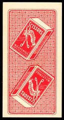 Cigarette Card Back - Scissors Cigarettes (cigcardpix) Tags: cigarettecards advertising ephemera vintage beauty playingcard